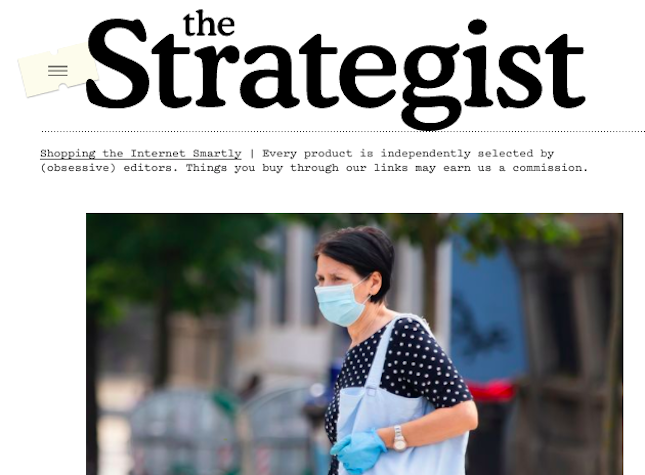 The landing page of New York Magazine's shopping site The Strategist.
