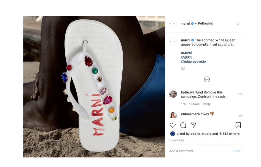 Marni's flip-flop digital campaign addressed with racism accusations