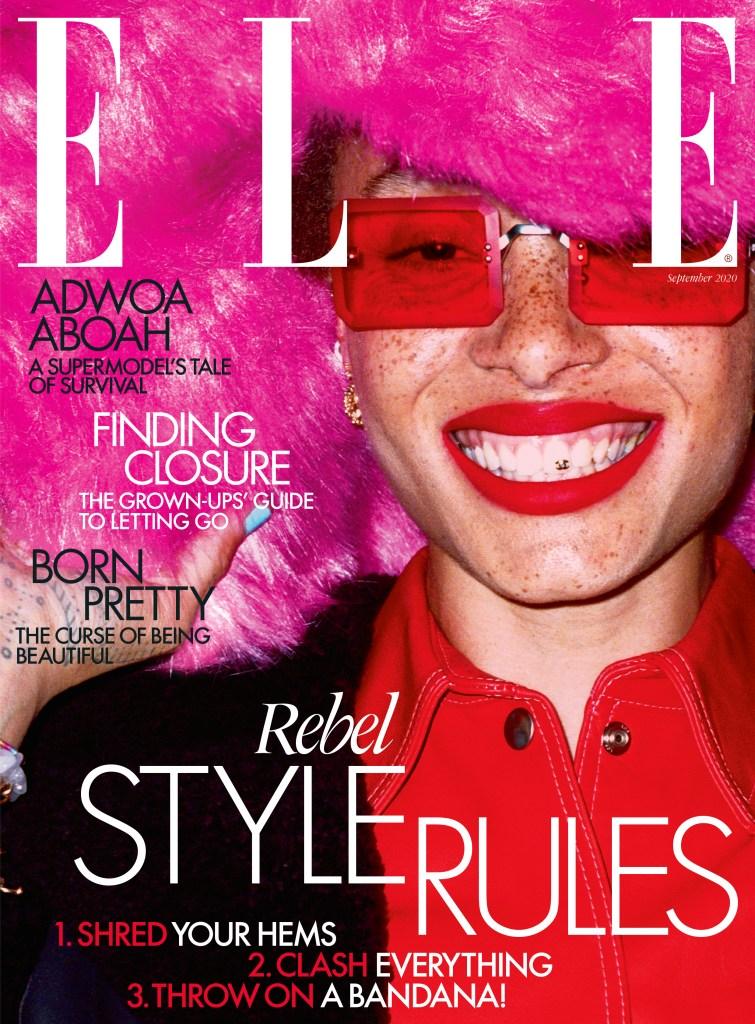 The Elle U.K. cover featuring Adwoa Aboah