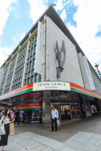 The John Lewis department store on Oxford Street is one of many retail stores in the capital's West End whose exteriors are decorated in rainbow colours in support of Pride Month.Shops decorated in support of Pride, London, Uk - 01 Jul 2019Pride is an annual celebration of the LGBT+ community and culminates in the LGBT+ parade in the UK, with thousands of people travelling the route either by foot or on floats.