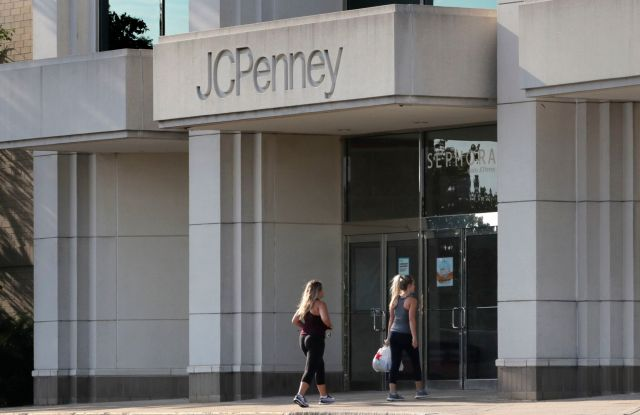 Two women walk into the JCPenney store in Peabody, Mass. J.C. Penney Co. reports earnings Thursday, Feb. 27Earns JC Penney, Peabody, USA - 14 Aug 2019