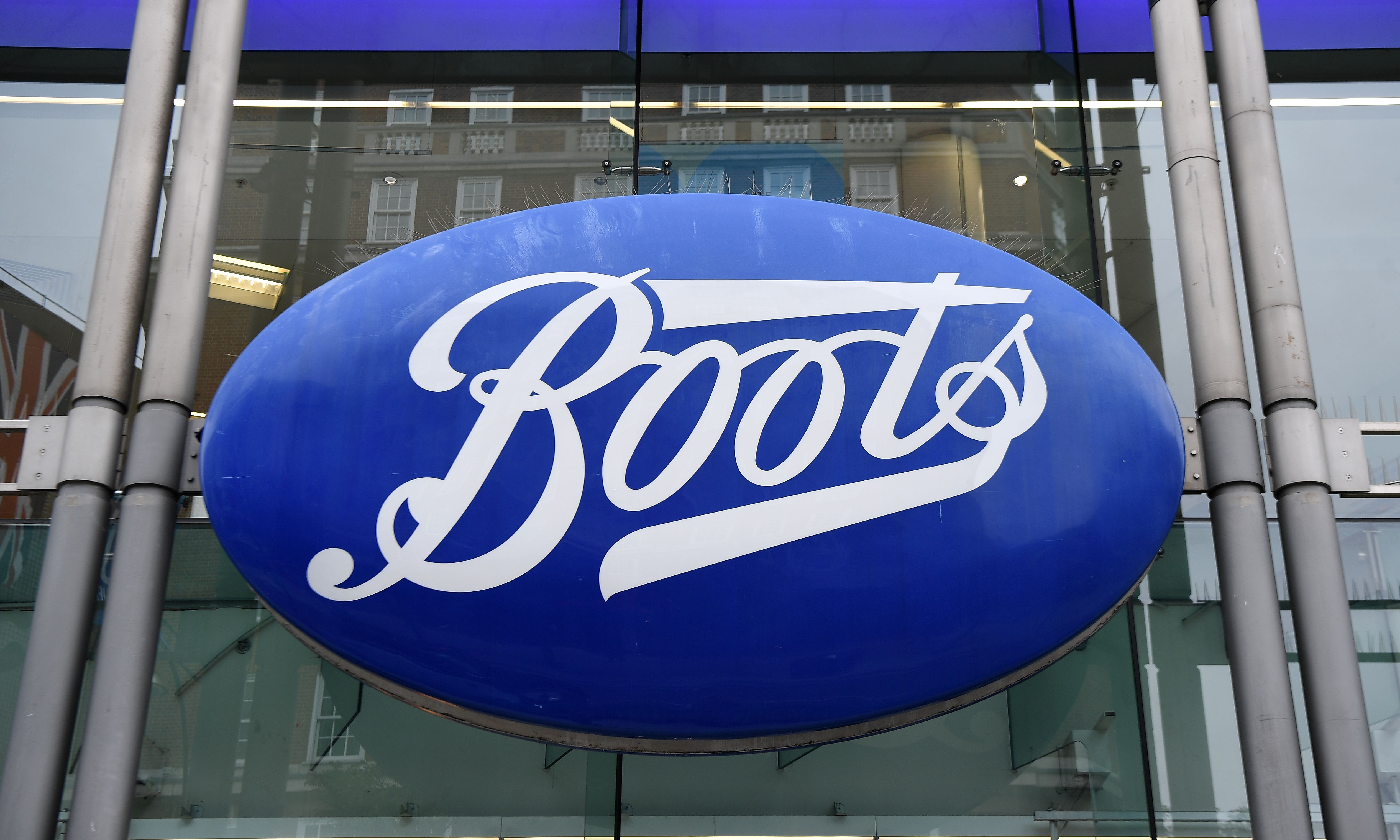 A Boots sign outside a Boots pharmacy in central London, Britain, 09 July 2020. High Street pharmacy Boots has announced it is to cut some four thousand jobs as it prepares to close some stores due to the lockdown caused by the Coronavirus. The UK's economy has suffered a two percent fall, its worst decline since the 2008 financial crash.Boots to cut jobs, London, United Kingdom - 09 Jul 2020