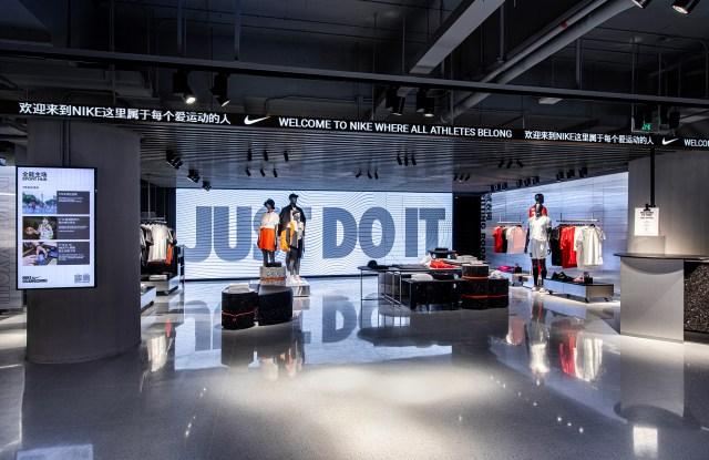 The new Nike Rise store in Guangzhou, China.