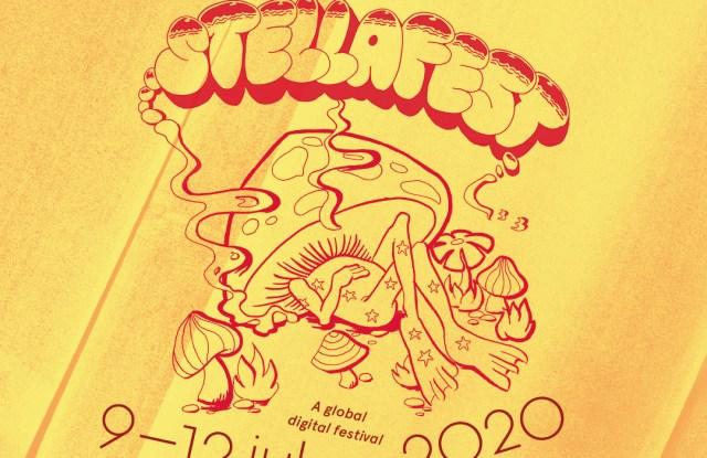 The poster for Stella McCartney's digital music festival and fundraiser, Stellafest.