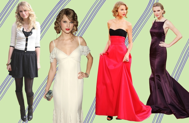 Taylor Swift throughout the years.