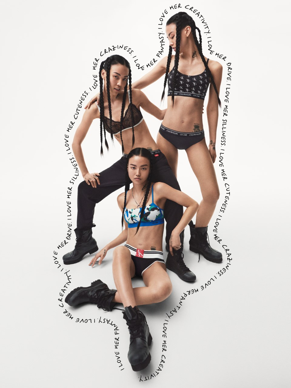An image of the CK One underwear and jeans collection.