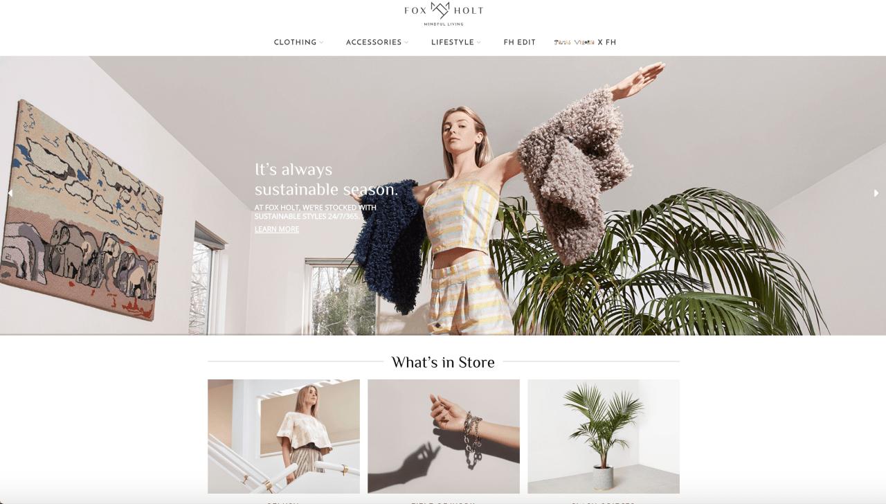 Fox Holt, sustainability, retailer, e-commerce, entrepreneurs, brands, fashion