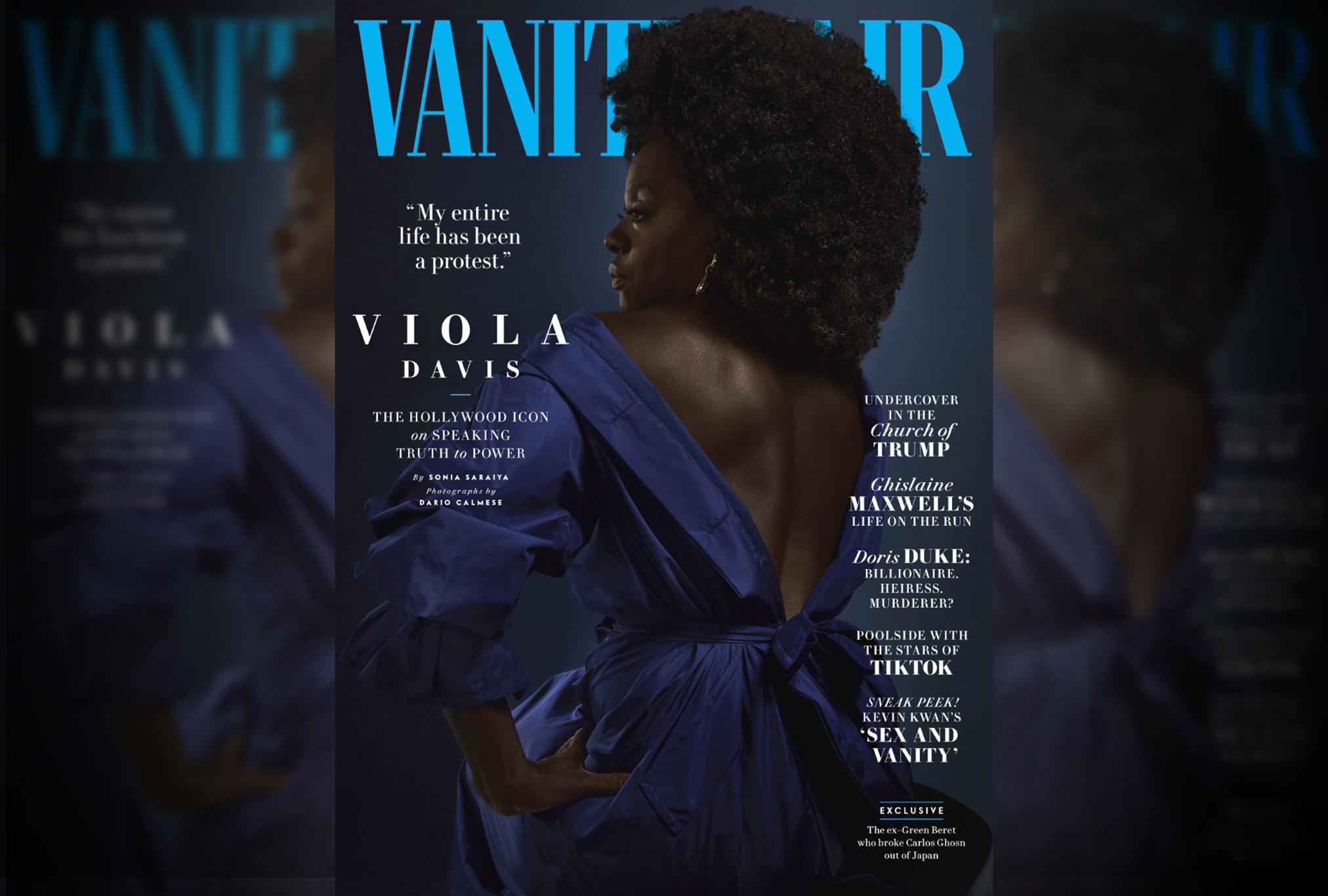Vanity Fair cover of Viola Davis.