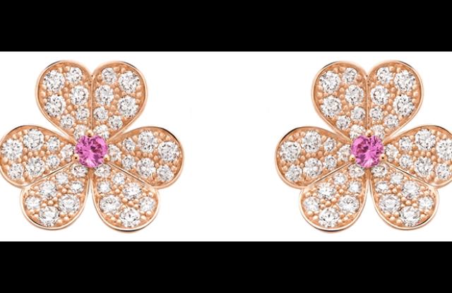 "Van Cleef & Arpels' ""Frivole"" earrings."