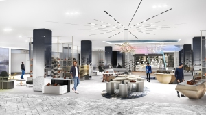 The men's shoe floor at the Saks Fifth Avenue flagship.