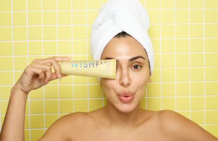 Huda Kattan with Wishful Yo Glow Enzyme Scrub