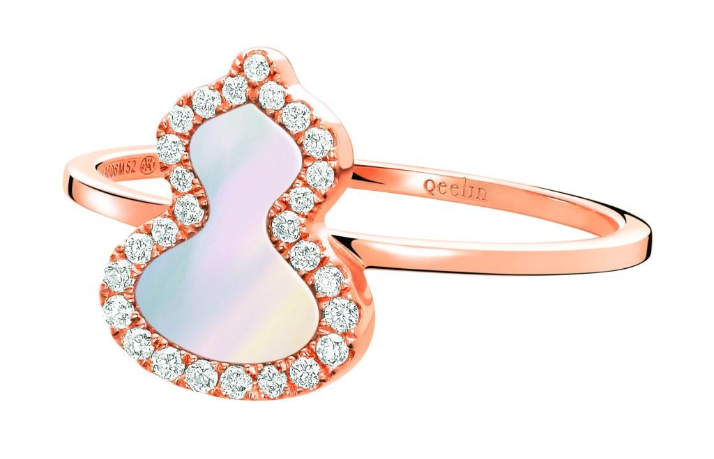 Qeelin Wulu's mother-of-pearl and diamond ring.
