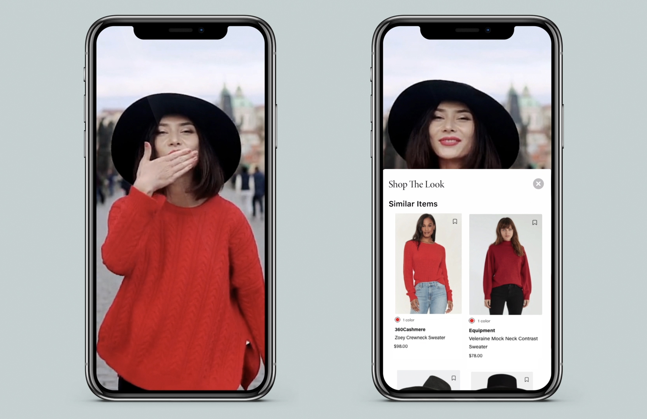 Verishop Explorer shoppable social media content