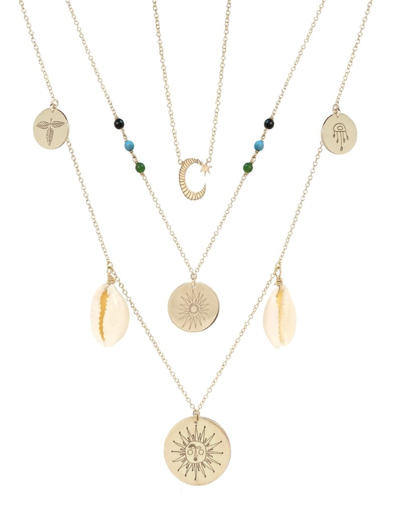 Zoë Chicco x Justina Blakeney's necklaces.