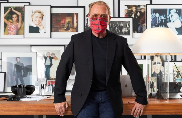 Like millions of other people, Michael Kors went into strict COVID-19 quarantine in March. He and a limited number of staffers returned to the office in mid-June, the better to deal with hands-on issues of design. Kors' mask of choice: Scalamandre zebras, the same print that once graced the walls of the now-closed Gino's restaurant, near Bloomingdale's. Throughout the pandemic, Kors has maintained his long-running trunk-show schedule, only now, via Zoom. He conducted a Neiman Marcus event in front of a wall of portraits he's collected over the years.