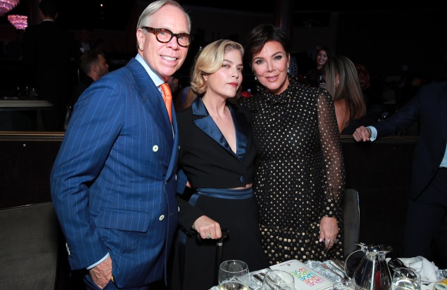 BEVERLY HILLS, CALIFORNIA - MAY 10: (L-R) Tommy Hilfiger, honoree Selma Blair and Kris Jenner attend the 26th annual Race to Erase MS on May 10, 2019 in Beverly Hills, California. (Photo by Rich Fury/Getty Images for Race To Erase MS)