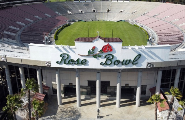 The Rose Bowl stadium in Pasadena, Los Angeles, home to the long-running Rose Bowl Flea Market.