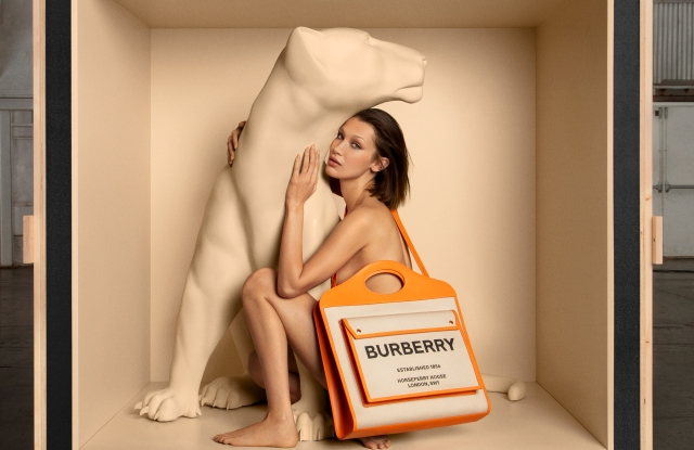 Burberry's first bag campaign