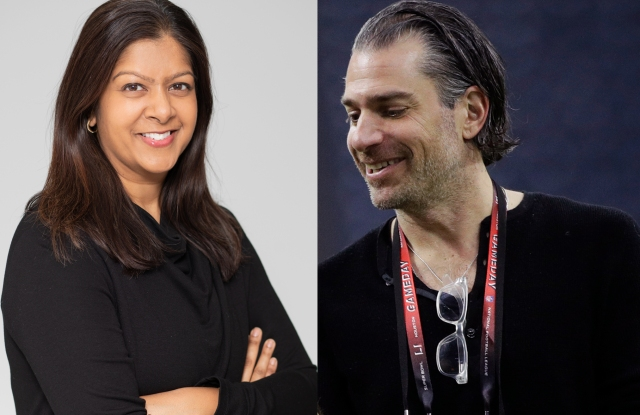 Rachna Shah, left, partner and managing director of KCD, and Christian Carino, head of CAA Fashion.