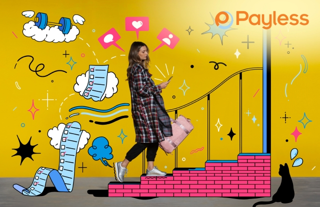 Promotional image for Payless' new incarnation.