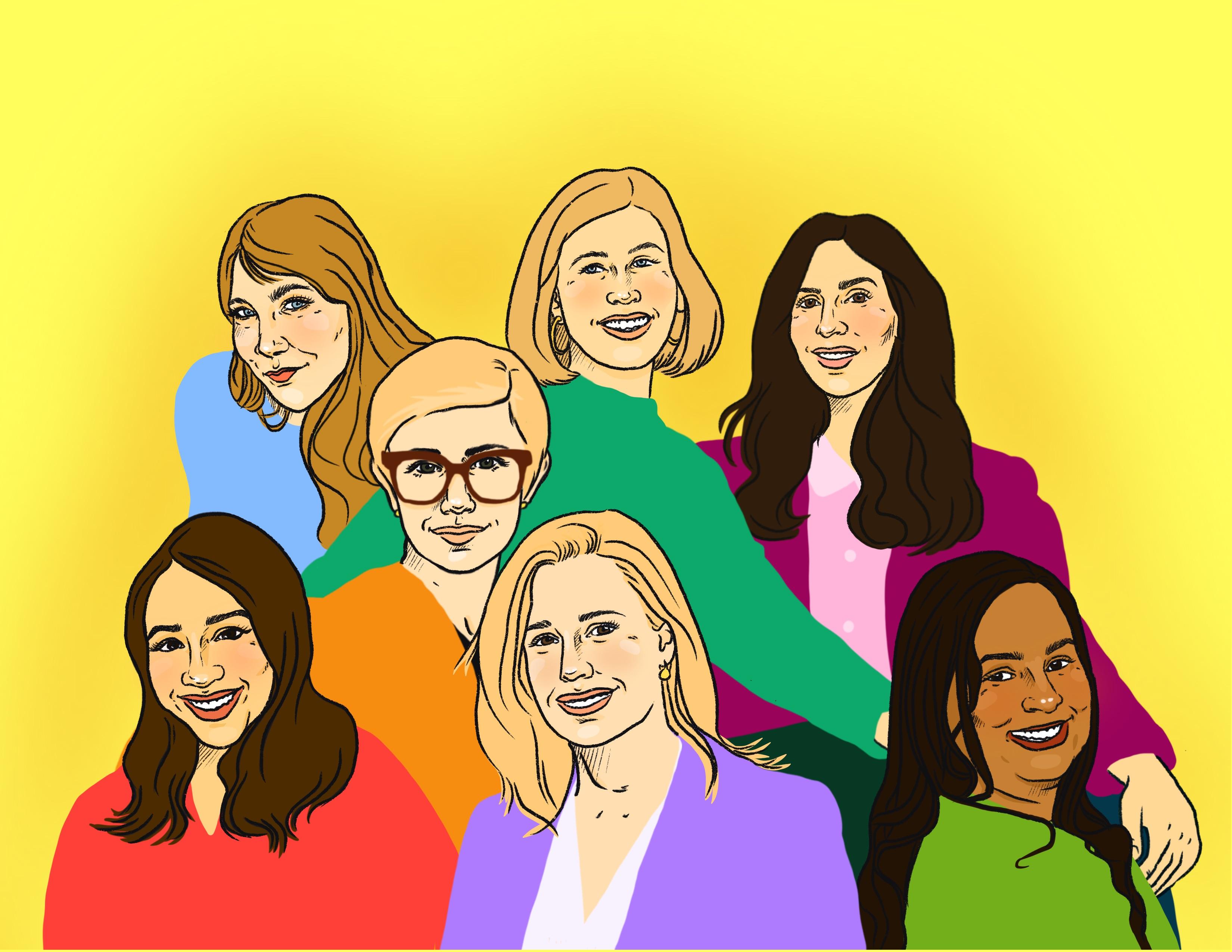 Top row: Fiona Hughes, Alexa Tonner, Natalie Silverstein. Middle: Ryan Stern. Bottom: Angelita Sierra, Amy Luca, Rashmi Nigam.