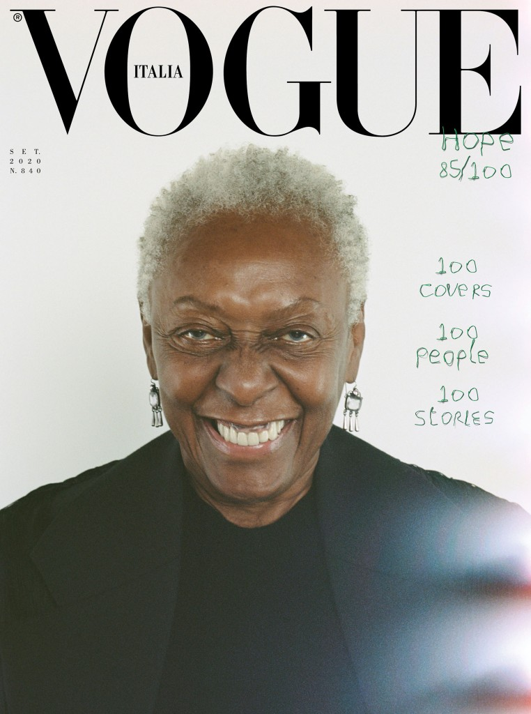 Bethann Hardison is one of the 100 cover stars of Vogue Italia's September issue.