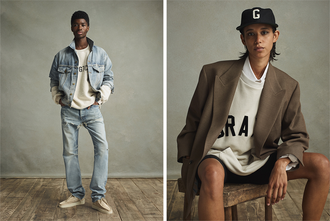 Looks from Fear of God's seventh collection.