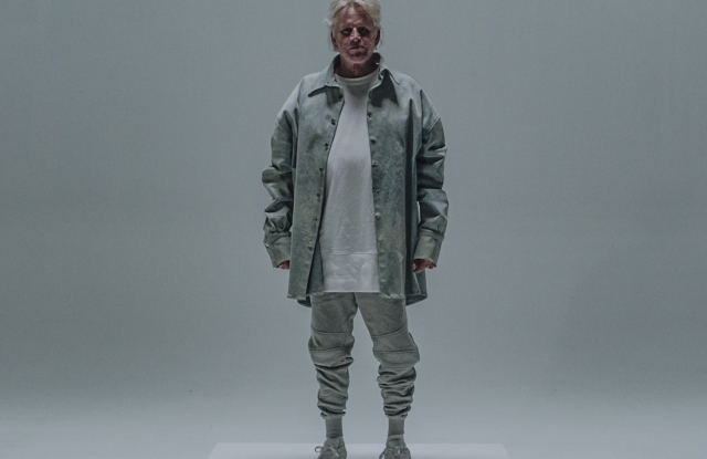 Gary Busey modeling Alex Da Kid's first collection.