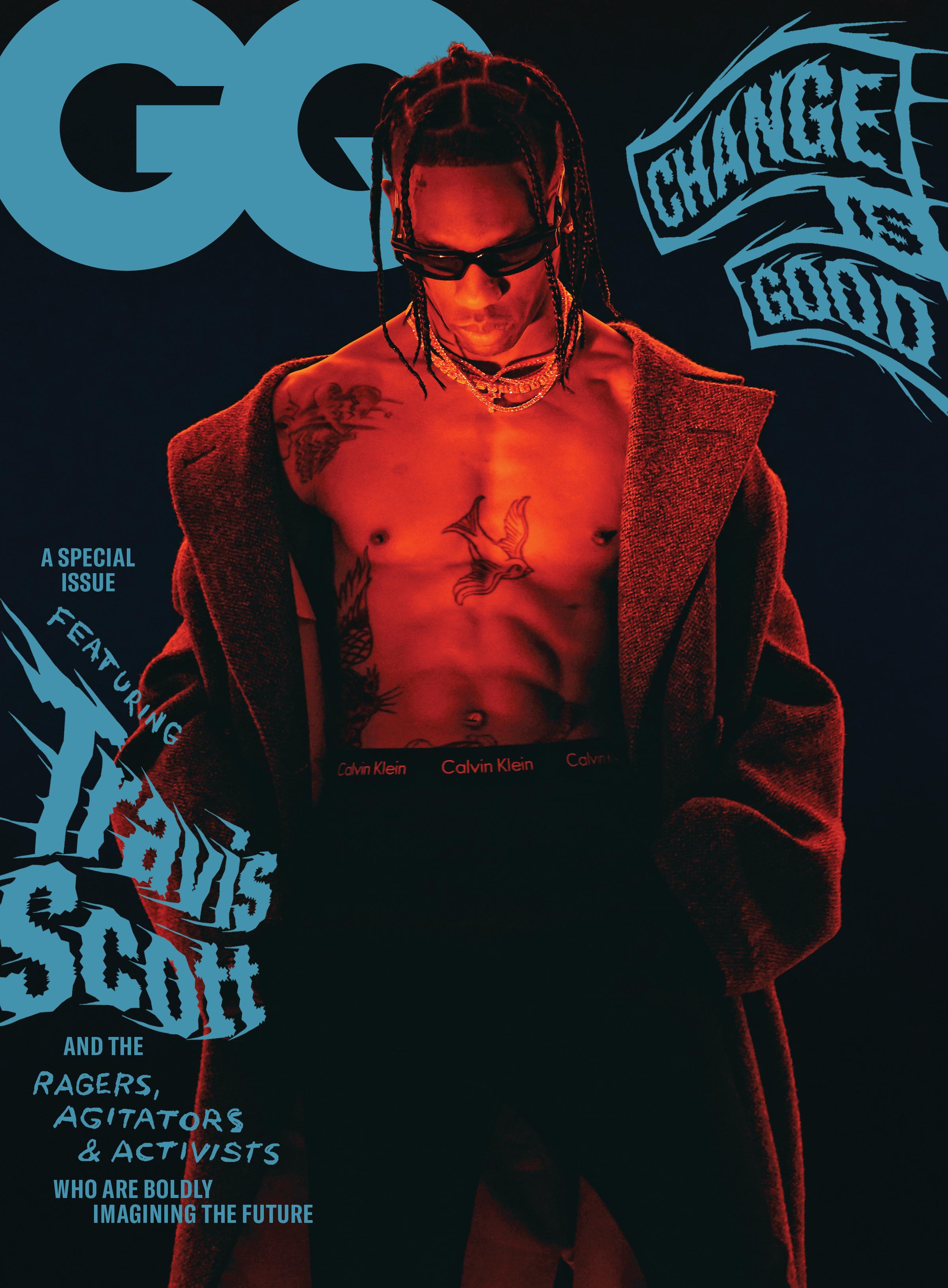 Travis Scott on GQ's September 2020 cover.