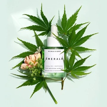 Herbivore Botanicals Emerald CBD + Adaptogens Deep Moisture Glow Oil