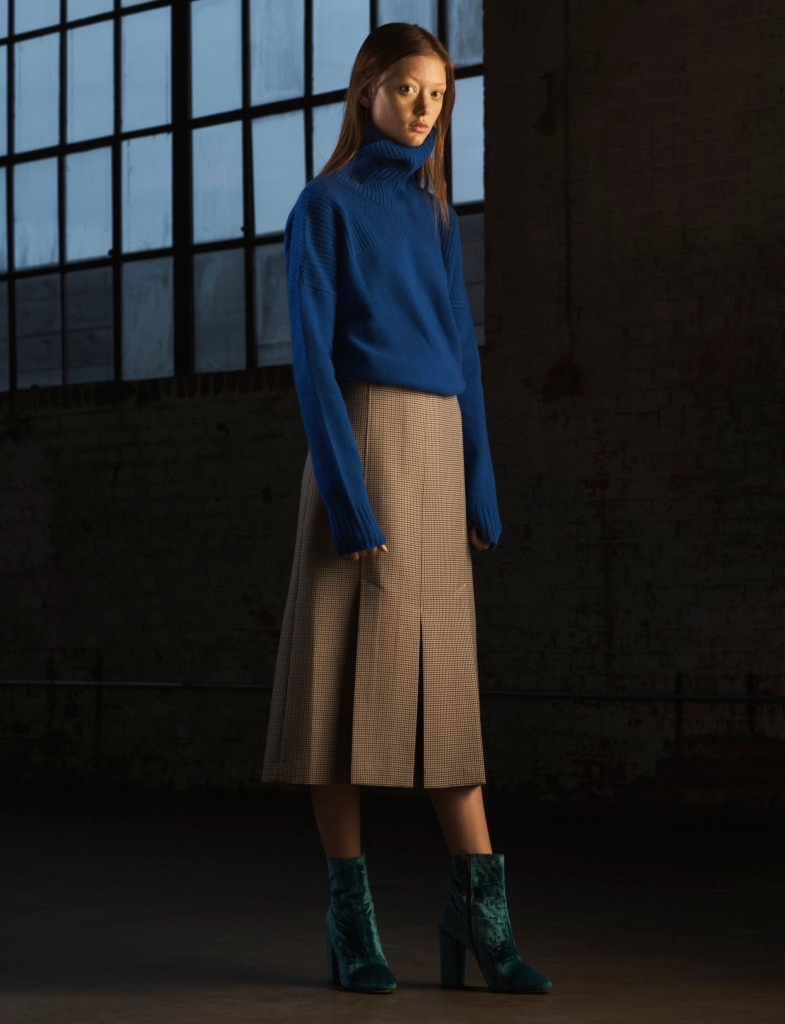 Wu will show his contemporary Jason Wu line on the runway next month. Here, a look from fall.
