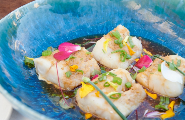 Mei Yun Wu's cod in ginger scallion sauce, as interpreted at The Surf Lodge.