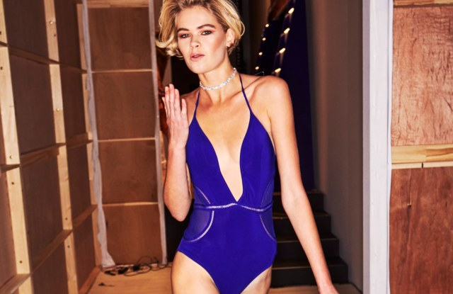 A look from Jets Swimwear's Resort 2019 collection, shown at Mercedes-Benz Fashion Week Australia, Carriageworks, Sydney, May 15, 2018.