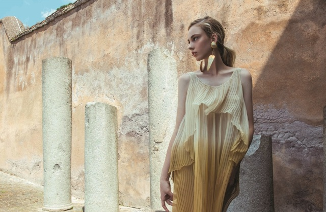 A preview look at Laura Biagiotti's spring 2021 collection to be presented on Rome's Capitoline Hill on Sept. 13.