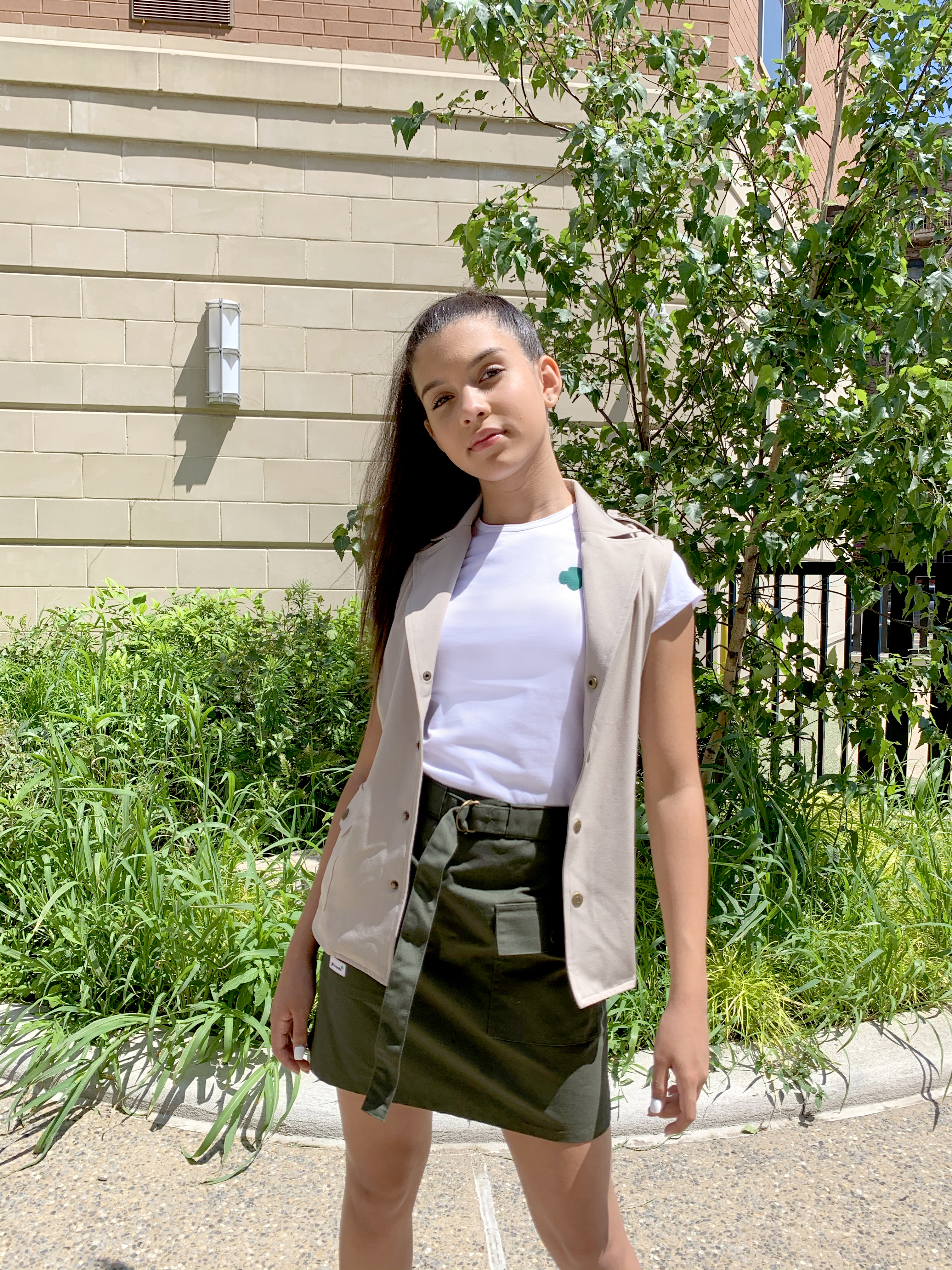 A look from the new Girl Scouts uniform, designed by FIT students.