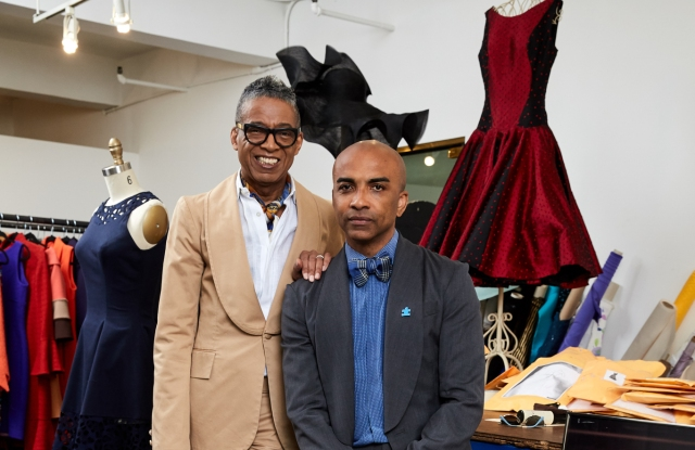 B Michael and chief executive officer Mark-Anthony Edwards in the atelier of their company's SA headquarters.
