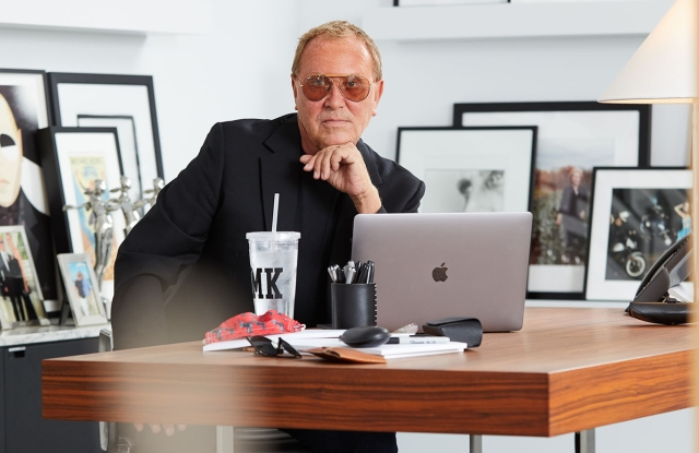 "Alone at his desk, Kors can lose the mask. Getting back to the office was essential for Kors, and about 20 percent of the staff, ""a mix of people,"" he said, ""who really need to get their hands on things, so to speak."""