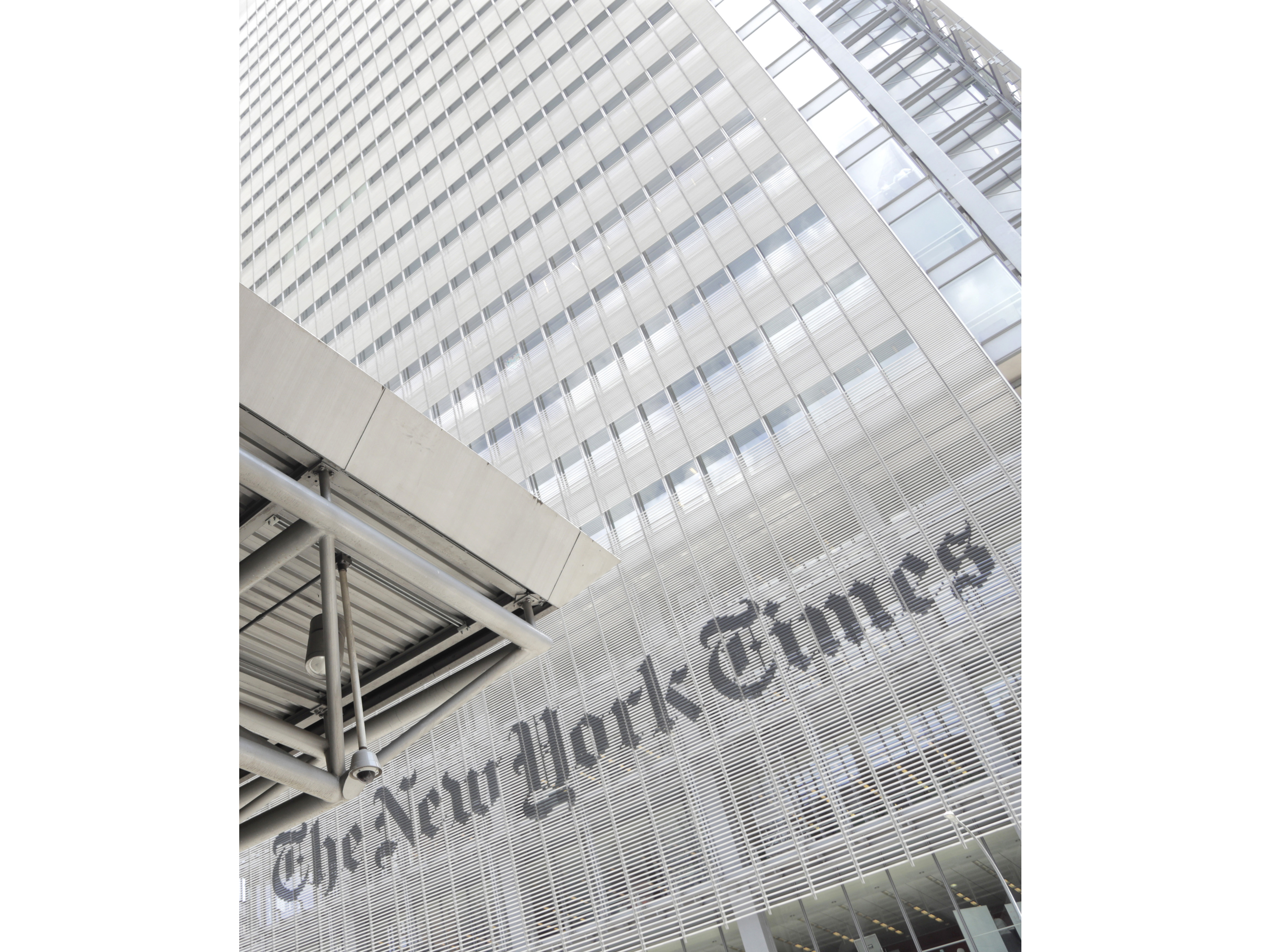 FILE - This June 22, 2019 file photo shows the exterior of the New York Times building in New York. The New York Times Co. said Wednesday, July 22, 2020, that it is promoting its chief operating officer, Meredith Kopit Levien, to CEO. She will start in the new role on Sept. 8, succeeding Mark Thompson, who has been president and CEO since 2012. (AP Photo/Julio Cortez, File)
