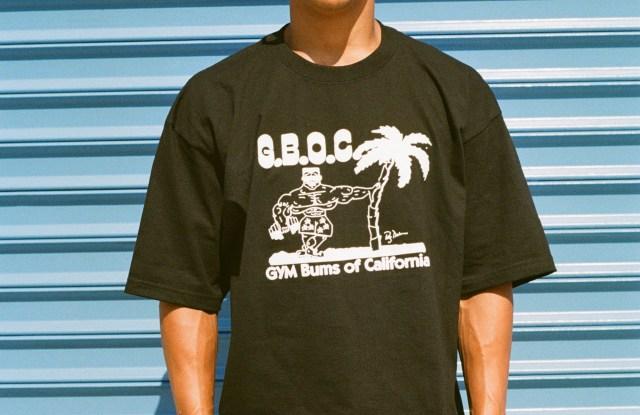 Y,IWO's Gym Bums of California T-shirt.