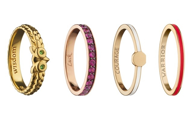 Several rings from the Monica Rich Kosann x Amber Vittoria collaboration.