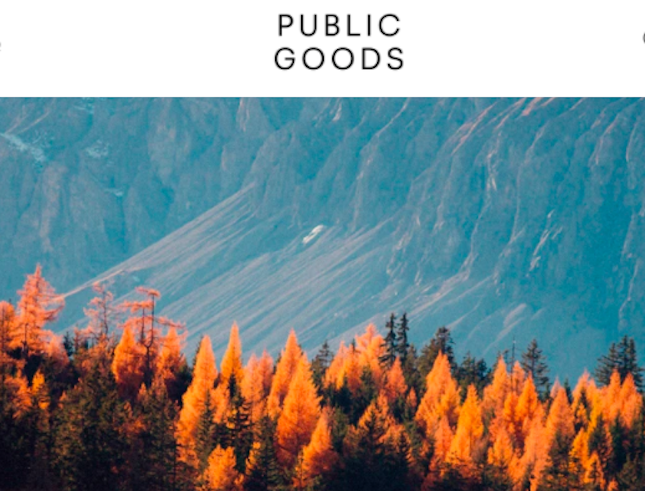 Public Goods' homepage