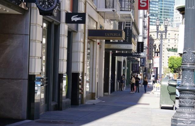 A street scene in San Francisco in July 2020.