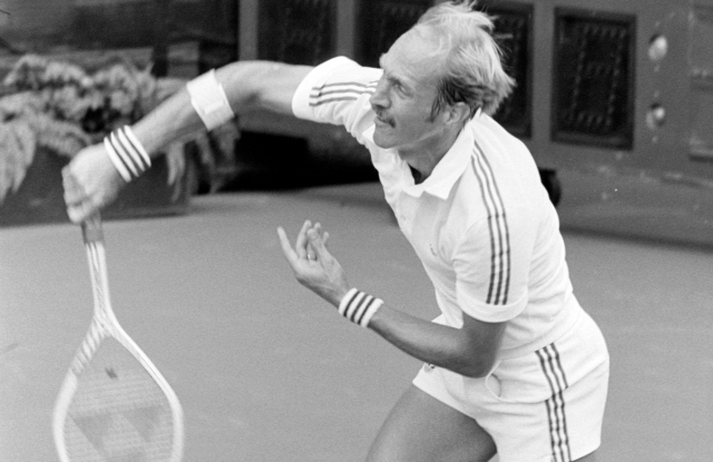 Stan Smith competes in the US Open Grand Slam Tournaments in New York, New York on September 1, 1981.