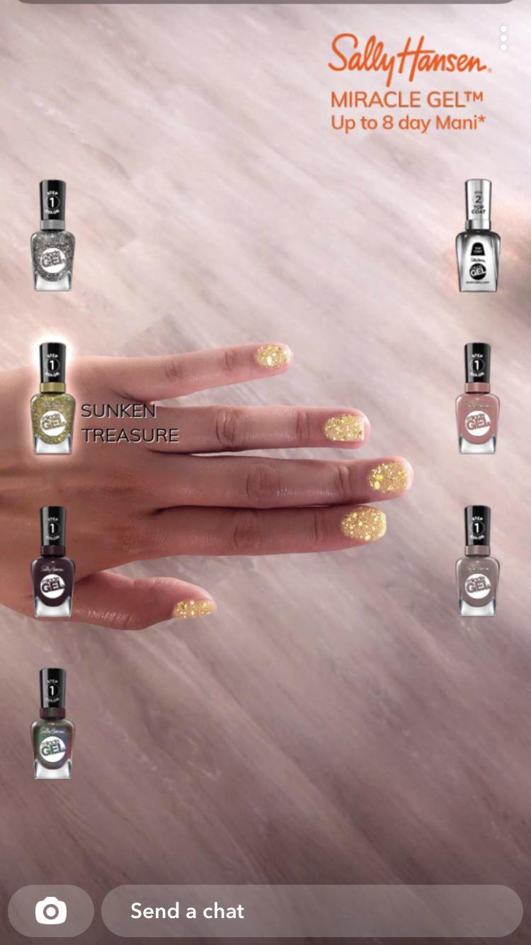 Sally Hansen Snapchat AR Lens snapML