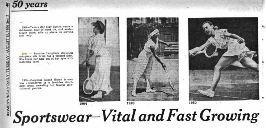 """Sportswear- Vital and Fast Growing,"" from the August, 15th 1950 issue of Women's Wear Daily."