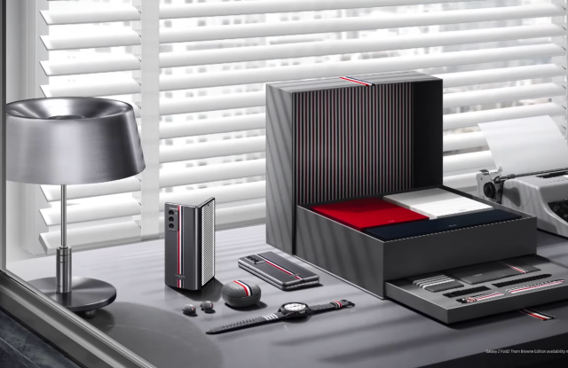 The limited-edition Thom Browne collection for Samsung.