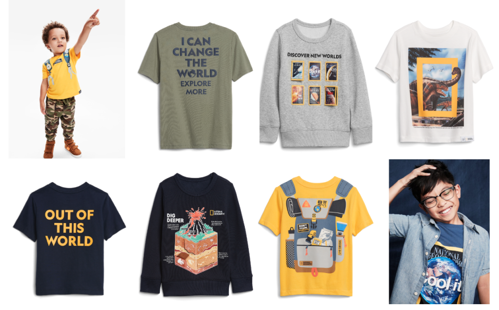 Gap, National Geographic, kids, apparel, sustainability