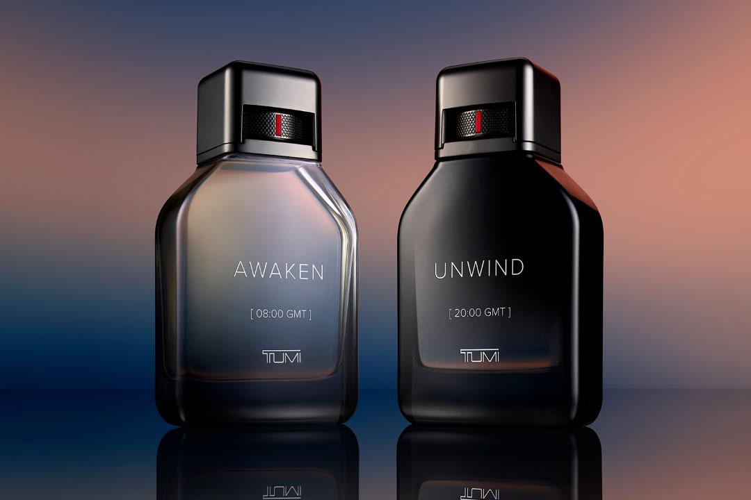 Tumi men's fragrances Awaken [08:00 GMT] and Unwind [20:00 GMT].