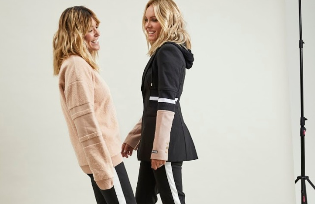 Claire Tregoning wearing the  Elevation Pant and Set Point Sweat and Rebecca Vallance  wearing the Elevation Pant and Elevation Blazer