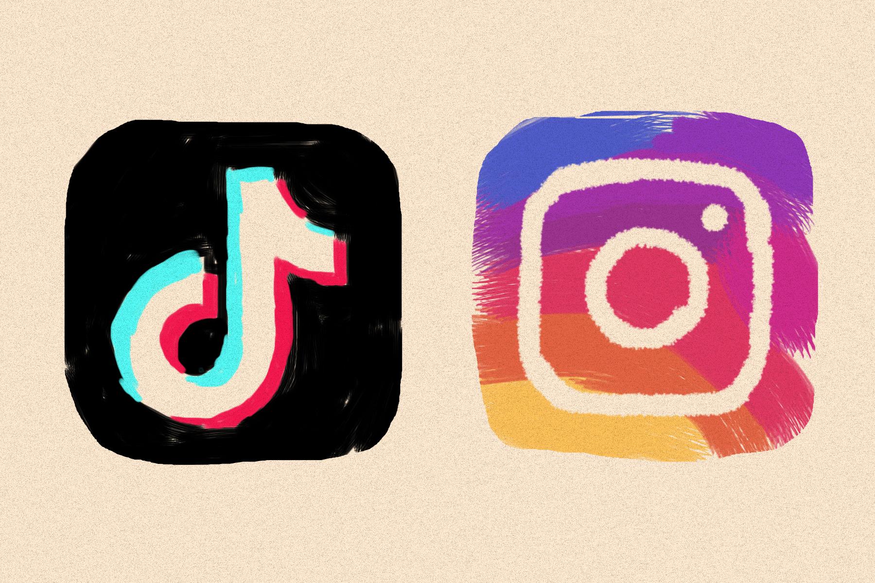 Instagram Reels Facebook TikTok